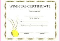 6 Food Winner Certificate Template 62303  Fabtemplatez regarding Quality First Place Certificate Template