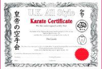 6 Karate Certificate Templates Free 89596  Fabtemplatez intended for Karate Certificate Template