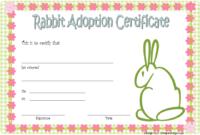 6 Rabbit Adoption Certificate Template Free Printable Designs with regard to Pet Adoption Certificate Template Free 23 Designs