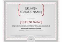 60 Free High School Diploma Template  Printable for School Certificate Templates Free
