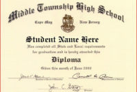 60 Free High School Diploma Template  Printable pertaining to Best College Graduation Certificate Template