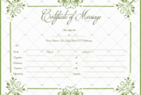 60 Marriage Certificate Templates Word  Pdf Editable pertaining to Best Marriage Certificate Editable Templates