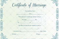 60 Marriage Certificate Templates Word  Pdf Editable throughout Best Marriage Certificate Editable Templates