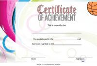 7 Basketball Achievement Certificate Editable Templates inside Best Basketball Certificate Templates