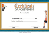 7 Basketball Achievement Certificate Editable Templates intended for Quality Tennis Achievement Certificate Template
