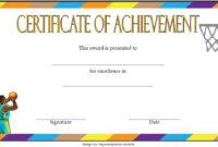 7 Basketball Achievement Certificate Editable Templates regarding Netball Participation Certificate Templates