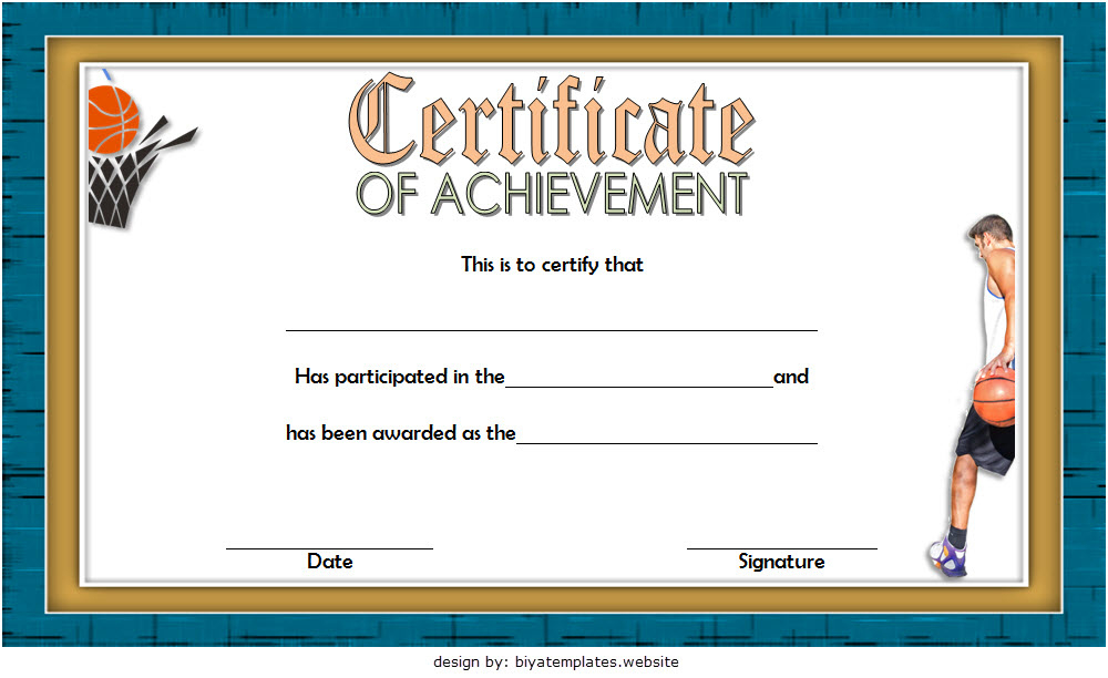 7 Basketball Achievement Certificate Editable Templates within Mvp Certificate Template