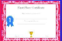 7 Create Your Own Award Certificate Template 87472 with regard to Amazing First Place Award Certificate Template