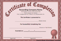 7 Free Certificate Of Completion Templated  Excel Pdf Formats within Generic Certificate Template