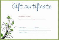 7 Gift Certificate Template Free Download inside Quality Black And White Gift Certificate Template Free