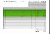 7 Job Proposal Template Free Of Cost  Sampletemplatess with regard to Awesome Cost Estimate Worksheet Template