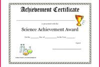 7 Music Achievement Award Certificate Templates 77357 with Awesome Science Achievement Award Certificate Templates
