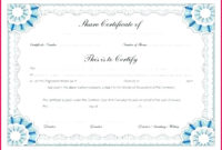 7 Share Certificate Templates South Africa 20776 within Corporate Share Certificate Template
