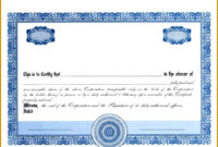 7 Sharestock Certificate Template  Fabtemplatez with Awesome Template For Share Certificate