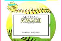 7 Softball Award Certificate Templates 85135  Fabtemplatez with Printable Softball Certificate Templates