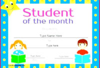 7 Student Of The Month Certificate Template 81495 with Student Of The Year Award Certificate Templates