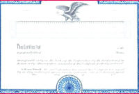 7 Template For A Blank Corporate Stock Certificate 48316 for Corporate Share Certificate Template