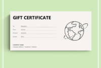 72 Free Gift Certificate Templates  Word Doc  Pdf throughout Printable Travel Gift Certificate Templates