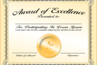 8 Awards Certificate Template  Bookletemplate With pertaining to Quality Award Of Excellence Certificate Template