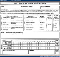 8 Best Migraine Diary Images  Migraine Diary Migraine intended for Quality Pain Log Template