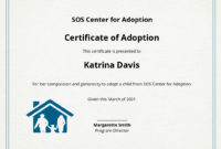 8 Free Adoption Certificate Templates  Word Doc  Psd in Child Adoption Certificate Template Editable