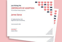 8 Free Adoption Certificate Templates  Word Doc  Psd with regard to Printable Cat Adoption Certificate Template 9 Designs