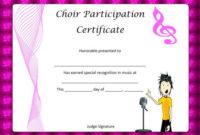 8 Free Choir Certificate Of Participation Templates  Pdf within Free Certificate Of Participation Template Pdf