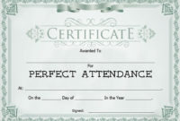 8 Free Sample Attendance Certificate Templates  Printable intended for Amazing Printable Perfect Attendance Certificate Template