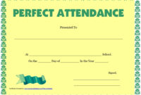 8 Free Sample Attendance Certificate Templates  Printable with regard to Free Perfect Attendance Certificate Free Template