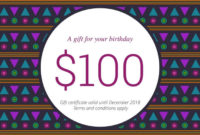 800 Free Business Gift Certificates Templates  Examples regarding Birthday Gift Certificate