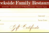 9 Breakfast Voucher Template  Sampletemplatess in Restaurant Gift Certificates Printable