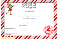 9 Elf Adoption Certificate Free Printable Designs regarding Amazing Firefighter Certificate Template Ideas