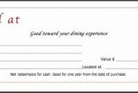 9 Food Voucher Template  Sampletemplatess  Sampletemplatess with Quality Restaurant Gift Certificate Template 2018 Best Designs