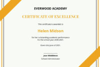 9 Free Academic Excellence Certificate Templates intended for Certificate Of Excellence Template Free Download