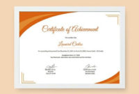 9 Free Achievement Certificate Templates  Word Doc for Indesign Certificate Template