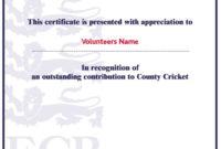 9 Free Sample Volunteer Certificate Templates  Printable regarding Best Volunteer Certificate Template