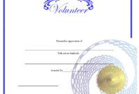 9 Free Sample Volunteer Certificate Templates  Printable with regard to Volunteer Certificate Template