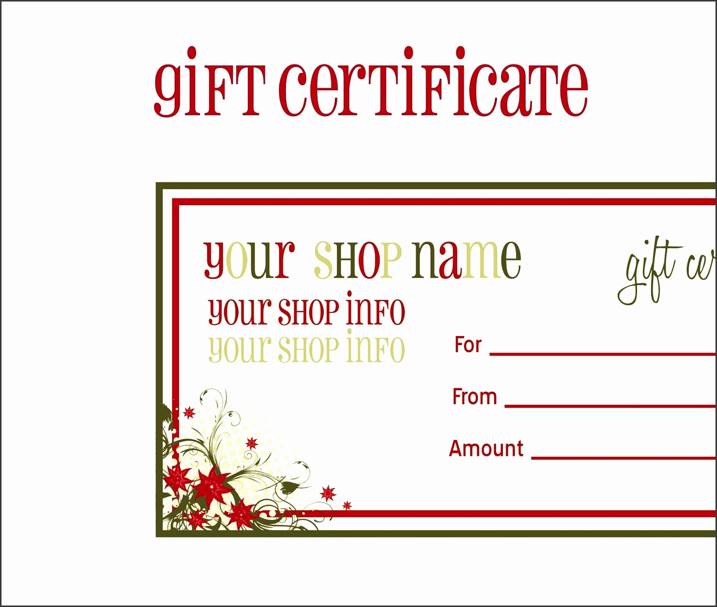 9 Printable Gift Voucher Template  Sampletemplatess inside Quality Free Spa Gift Certificate Templates For Word