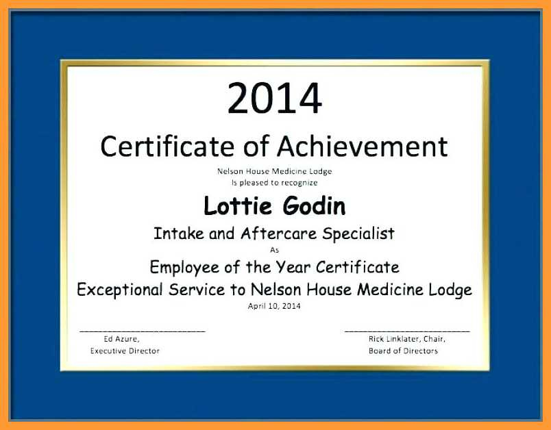 910 Employee Of The Year Templates  Aikenexplorer pertaining to Years Of Service Certificate Template Free 11 Ideas