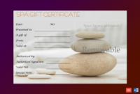 A Simple Day At The Spa Gift Certificate Template  Gct for Amazing Spa Gift Certificate