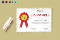 Ab Honor Roll Certificate Template Lovely Honor Roll intended for Printable Honor Award Certificate Template