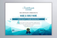 Abstract Beautiful Certificate Template Design Vector intended for Awesome Beautiful Certificate Templates