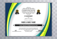 Abstract Beautiful Certificate Template Design Vector regarding Awesome Beautiful Certificate Templates