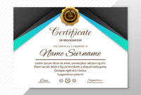 Abstract Creative Certificate Of Appreciation Award inside Amazing Free Template For Certificate Of Recognition