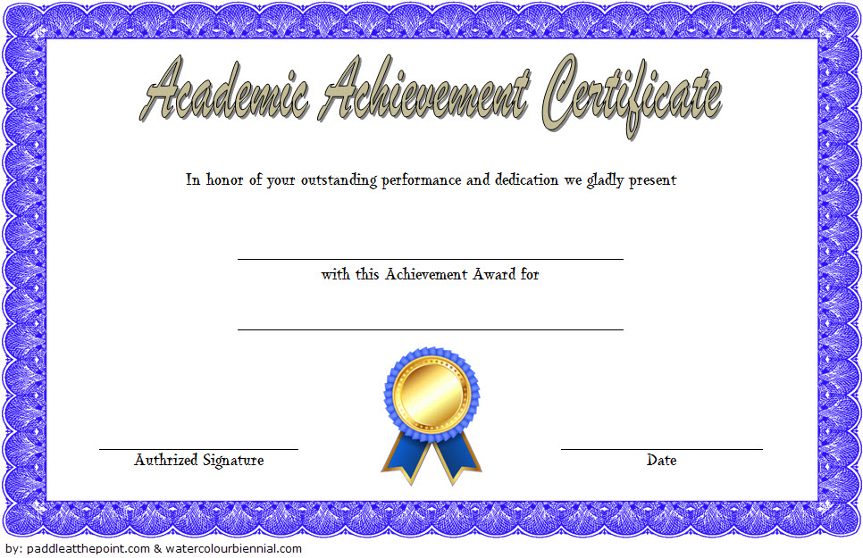 Academic Achievement Award Certificate Template Free 1 throughout Best Contest Winner Certificate Template