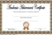 Academic Achievement Award Certificate Template Free 2 in Quality Academic Award Certificate Template