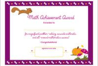Academic Achievement Certificate Template In 2020 with Math Achievement Certificate Templates