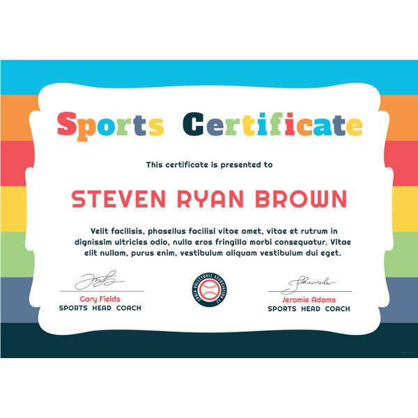 Achievement Certificate Templates  Certificate Template in Printable Children'S Certificate Template