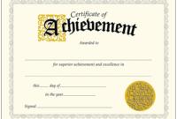 Achievementcertificatebestoftrendenterprisesclassic Inside for Badminton Achievement Certificate Templates