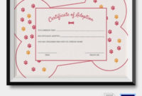 Adoption Certificate Template  12 Free Pdf Psd Format in Pet Adoption Certificate Editable Templates